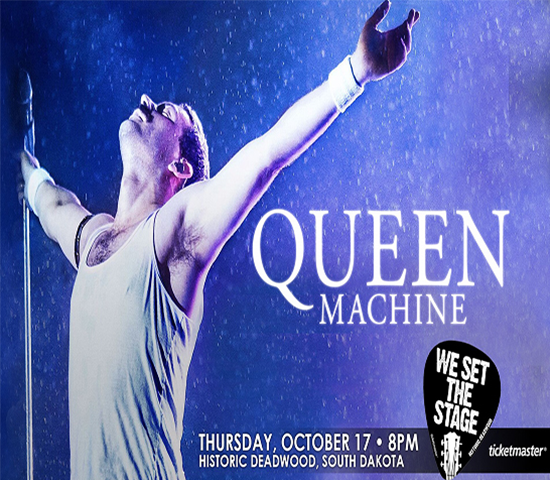 Click Big Deals - Queen Machine, The World's Best Queen Tribute Band, LIVE at The Deadwood Mountain Grand, 1 voucher gets 2 tickets, just $33!