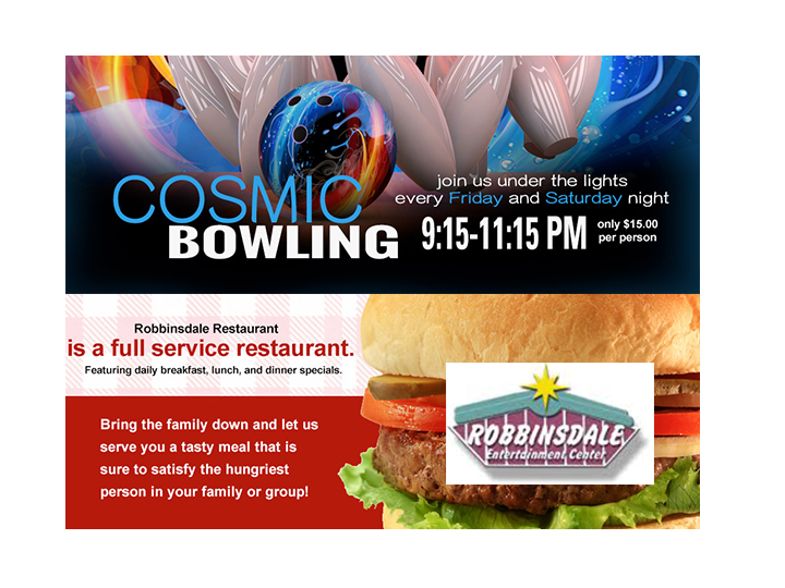 Half Price Bowling! 2 hours of bowling including shoes for up to 5 people, large pizza, pitcher of soda or beer. $80 value, half price for just $40!