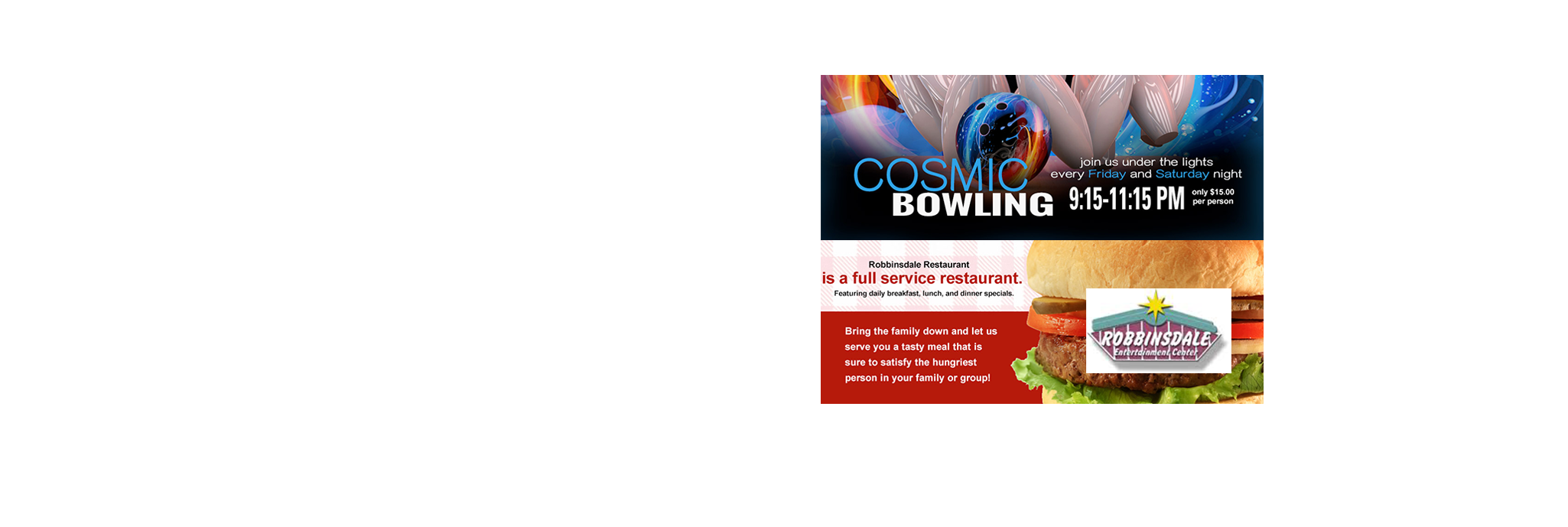 Get 2 hours of bowling, 1 large pizza and one pitcher of soda or beer at Robbinsdale Lanes on any Sunday in June, an $80 value, HALF-OFF for just $40!