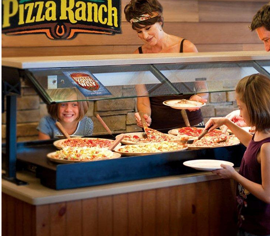 Click Big Deals - South Side Pizza Ranch-$10 Pizza Ranch Voucher and $10 Fun Zone Arcade Card for 1/2 OFF, JUST $10.00!