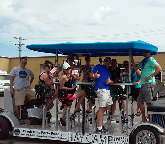 Take your Black Hills Party Pedaler Tour Now until November 17th for 50% Off. Group of 11 for $150! A $300 Value!