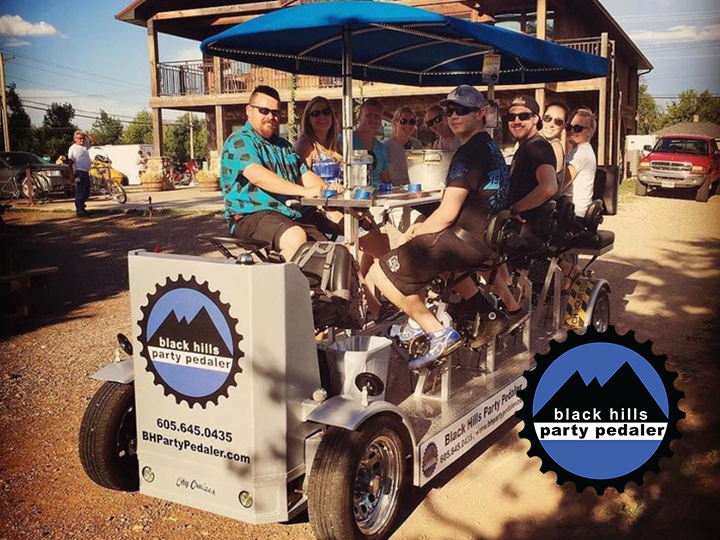 Take a ride on the Black Hills Party Pedaler! Only $150 for a group of 11. Everyone gets a free round of beverages!