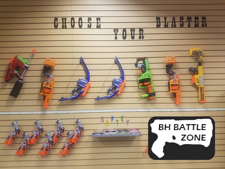 50% OFF Gyroscope Amusement Ride and Nerf Arena Battle at BH Battle Zone - Party of 8 people - JUST $40
