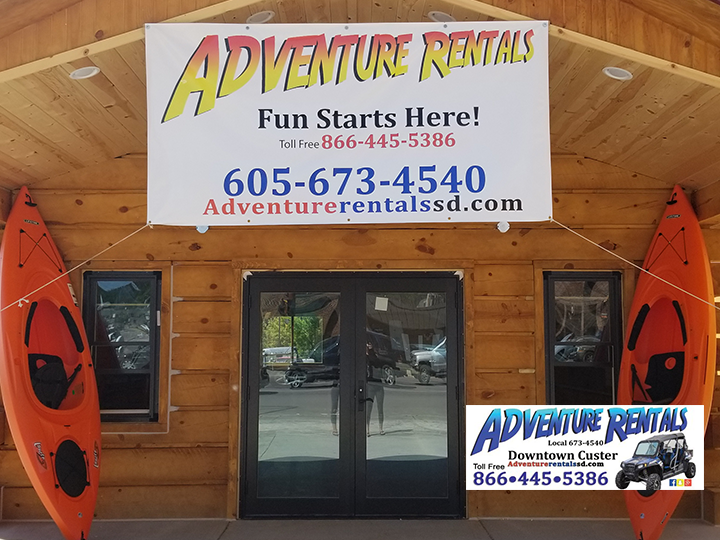 Adventure Rentals- Rent a 2 seater Polaris Slingshot for a half day for 50% OFF! Just $200! Includes passes to Black Hills parks!
