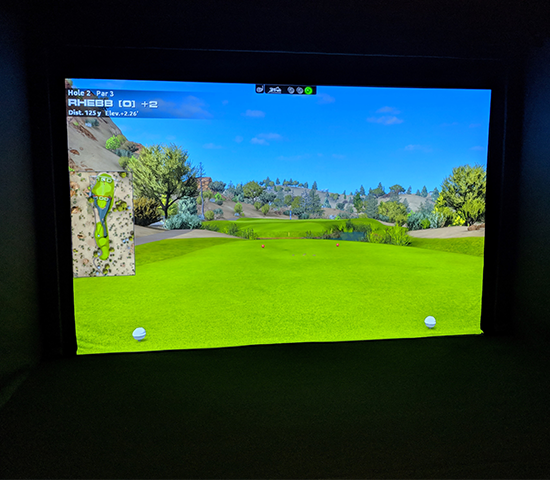 Click Big Deals - Get one hour on the PGA Tour Golf Simulator at Chip Shot Golf in Deadwood for up to 4 people, a $30 value, half price for just $15!