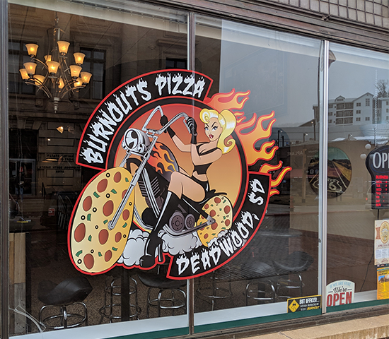 Burnouts Pizza in Deadwood is now open!  $20 voucher for the best St. Louis style pizza you'll ever have, half price for just $10!