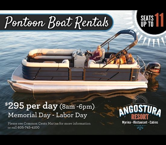 Click Big Deals - Summer Time is Here! Head out to the Angostura Reservoir with a Pontoon Rental for HALF OFF!
