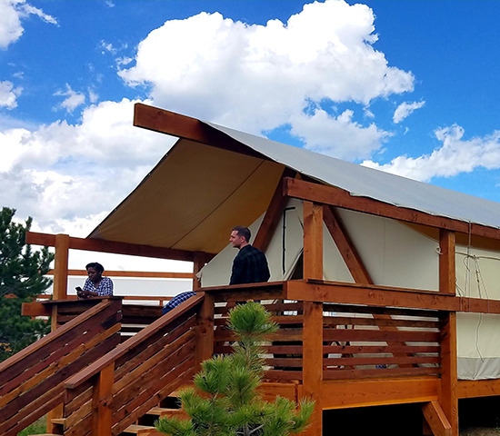 Click Big Deals - 50% Off a 2-night Stay at the Buffalo Ridge Camp Resort in Custer! 4 per Stay in a Luxury Canvas Tent for only $240! A $480 Value!