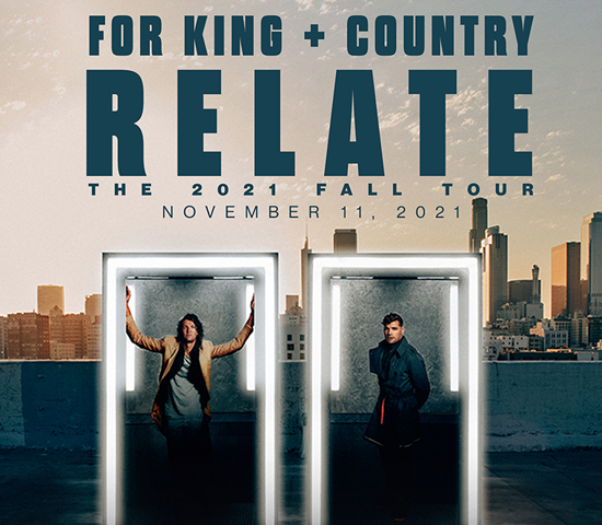 Click Big Deals - The Monument presents For King and Country, live in the Summit Arena!  One voucher gets two tickets, just $77.50!