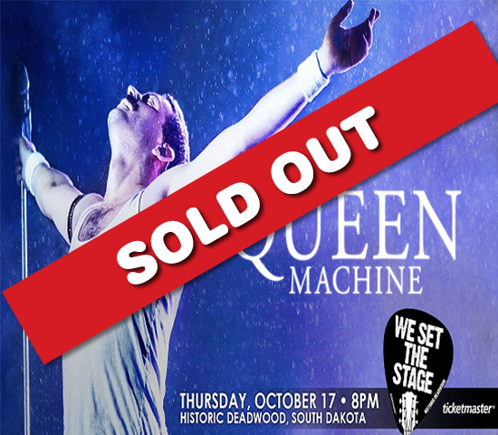Queen Machine, The World's Best Queen Tribute Band, LIVE at The Deadwood Mountain Grand, 1 voucher gets 2 tickets, just $33!