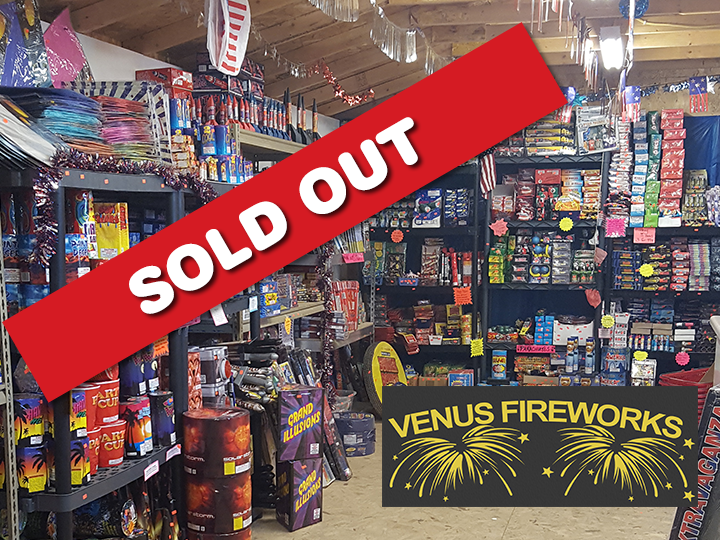 Celebrate the 4th of July: Get $50 at Venus Fireworks for ONLY $25!