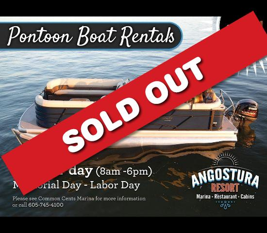 Summer is almost here! Head to the Angostura Reservoir with a Pontoon Rental for HALF OFF!